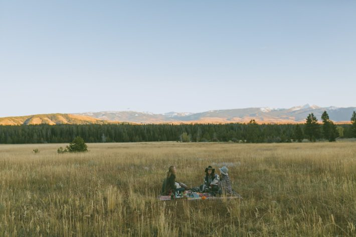 Elk Bugling Picnic in Grand Teton National Park at White Grass Ranch