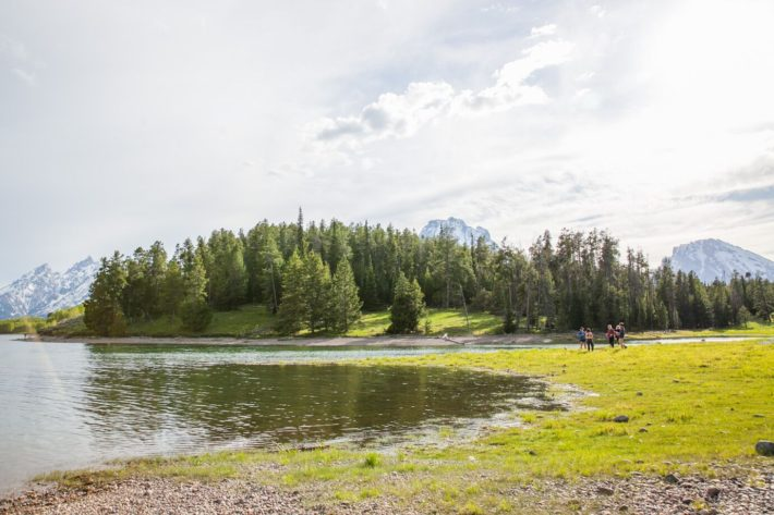 Elk Island Campsite on Jackson Lake in Grand Teton National Park Wyoming