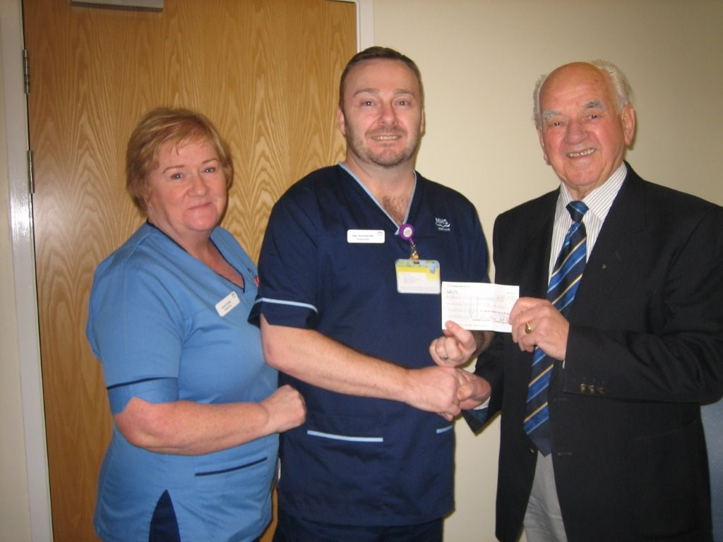 88 cheque to renal unit 030315