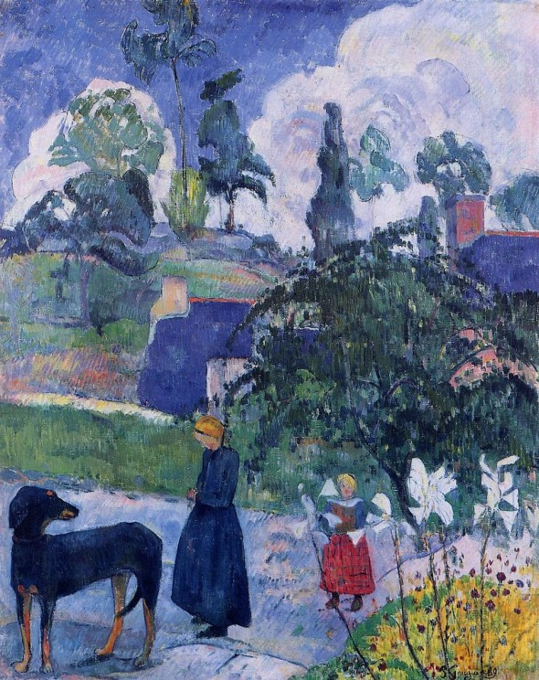 Among the lillies, Paul Gauguin, 1893