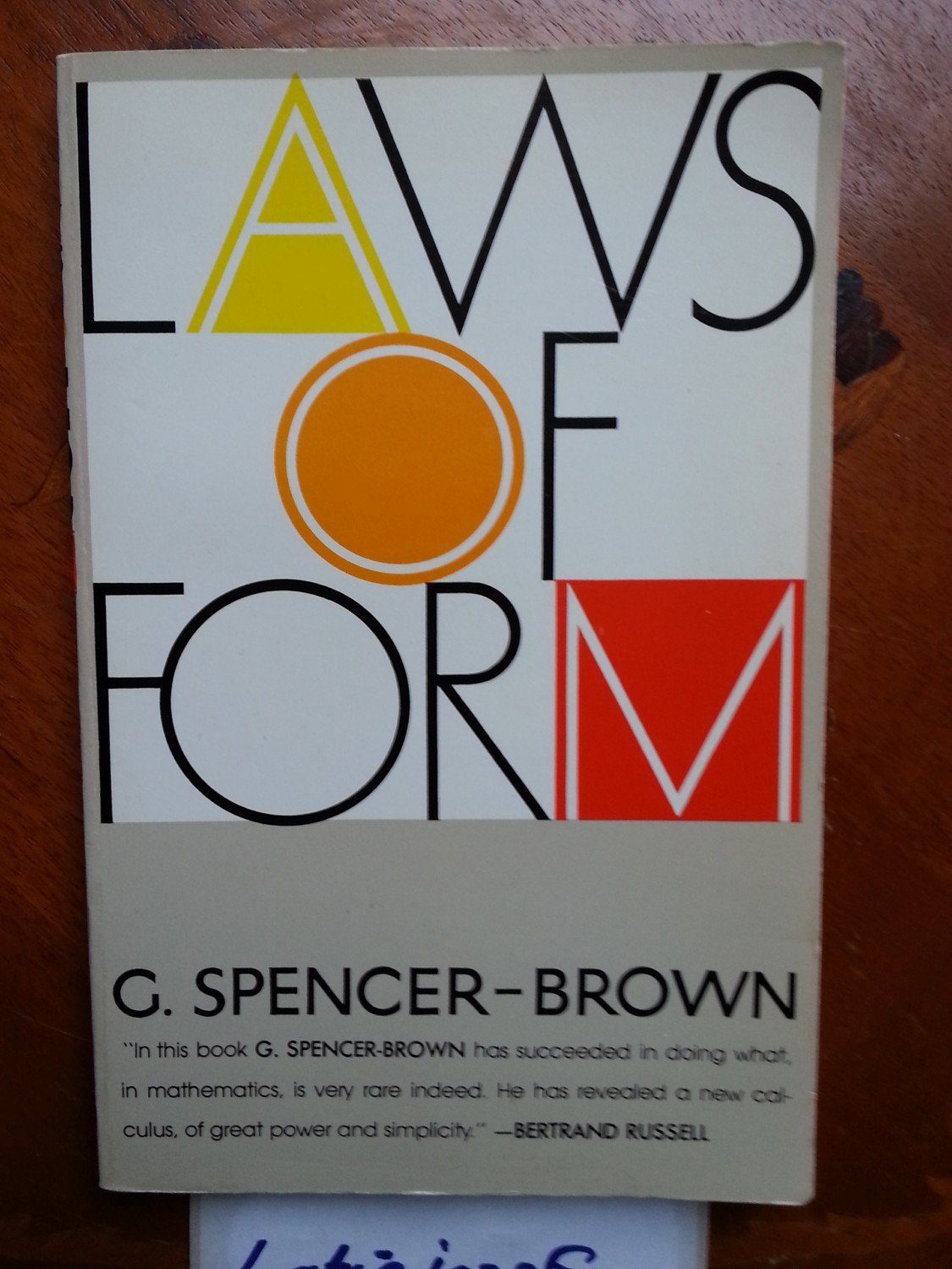 Laws of Form- George Spencer Brown