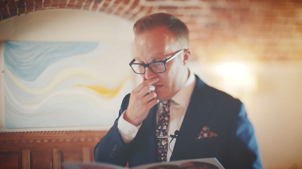 Letters and cards make for amazing, emotional footage (Wedding video Cornwall, Devon, Somerset)