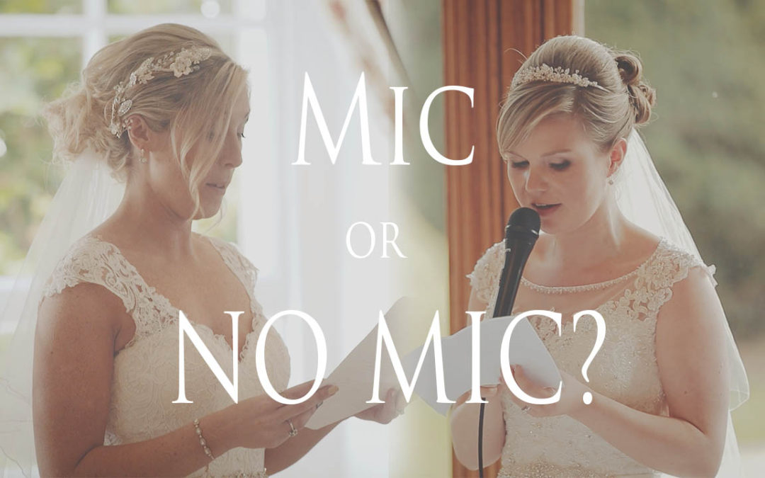 Using a Mic & Speaker System for Speeches – Wedding Video Pros/Cons