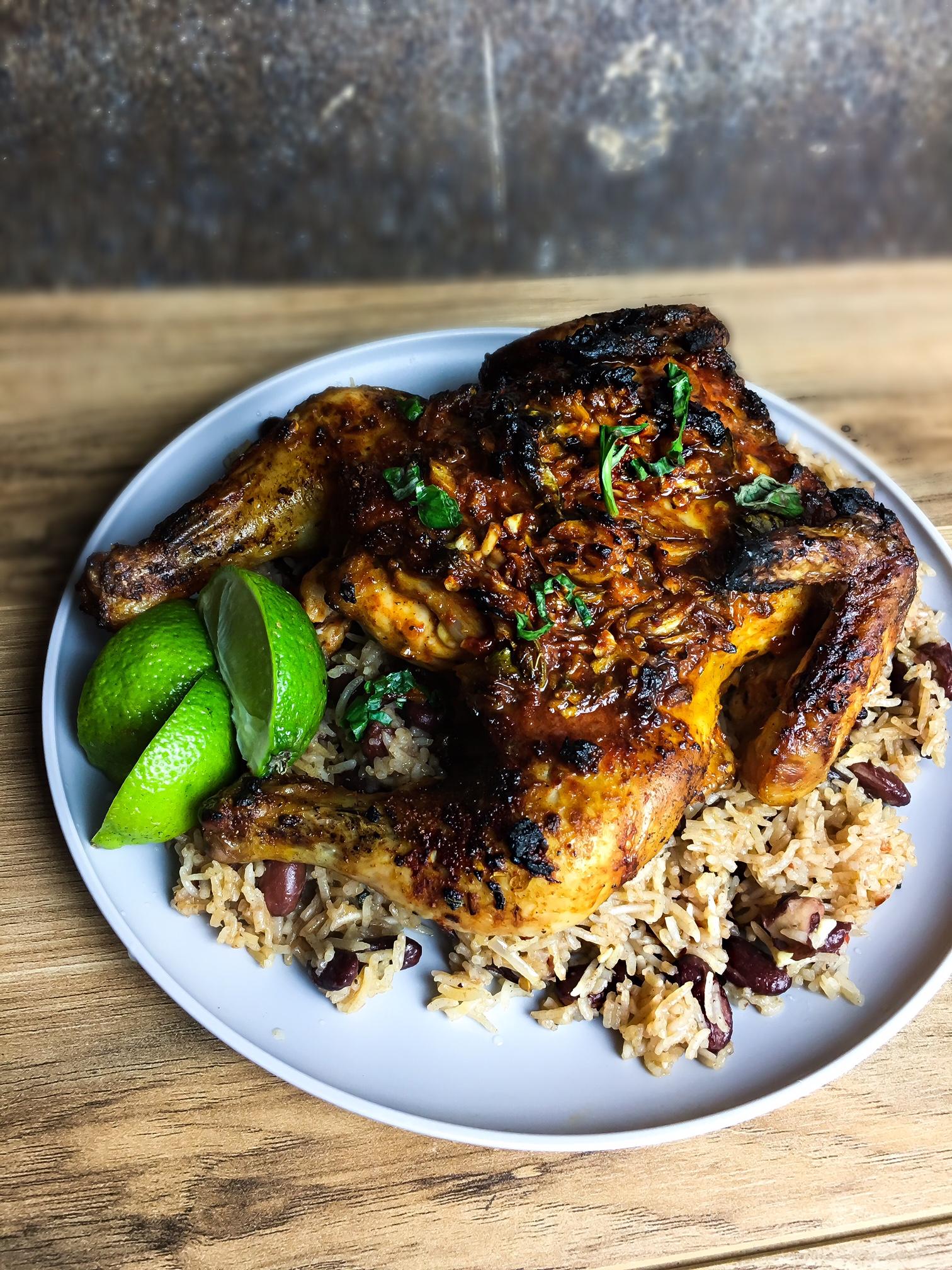 jerk chicken and rice