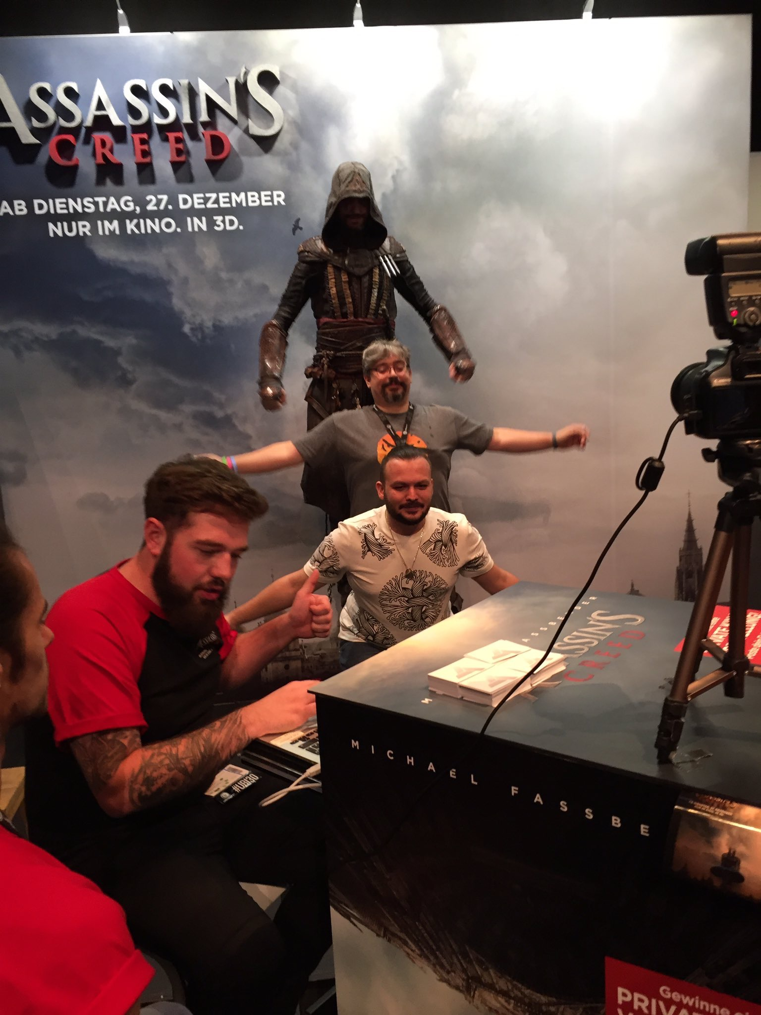Assassin's Creed Movie Booth with Gabe Graziani and Rick Boer