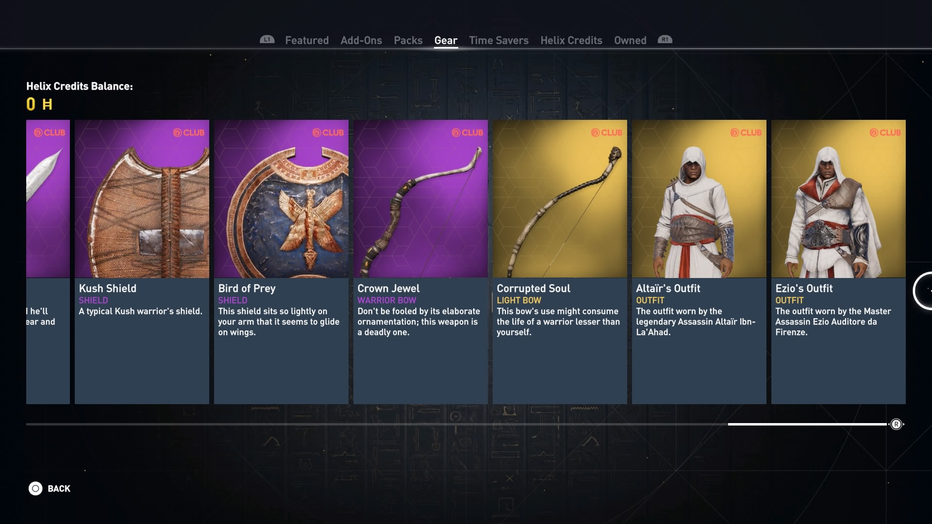 Assassin's Creed Origins – Ubisoft Club, Helix Rewards and Legacy Outfits