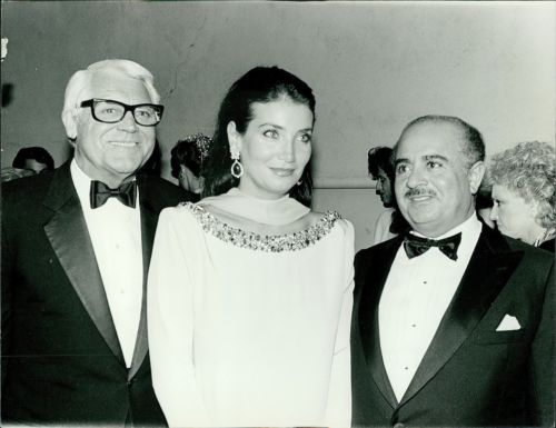 Adnan Khashoggi with Cary Grant and Lamia Khashoggi