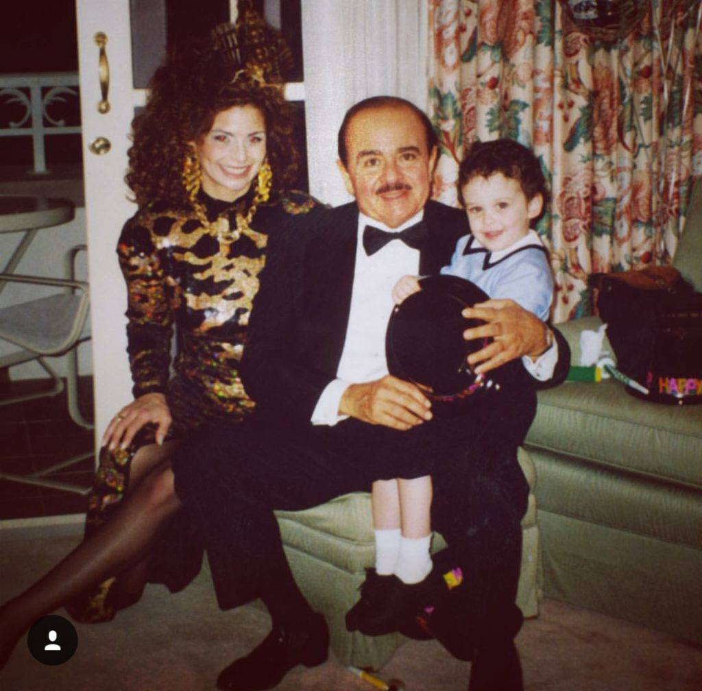 Adnan Khashoggi with grandson Spartan Daggenhurst and daughter Nabila Khashoggi