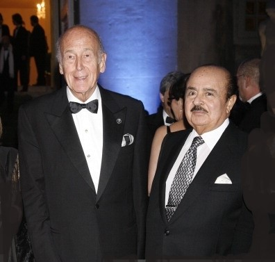 Adnan Khashoggi with President of France Giscard D'Estaing