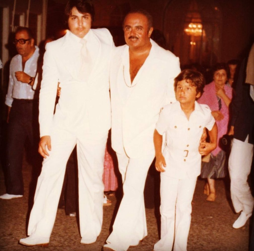 Adnan Khashoggi with sons Mohamed and Omar Khashoggi