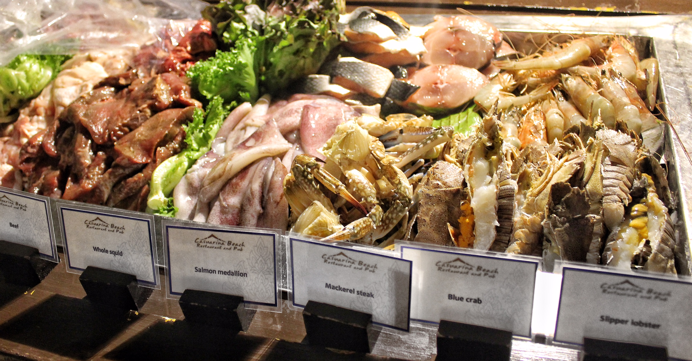 Seafood Buffet At Casuarina Beach Restaurant Dusit Thanai