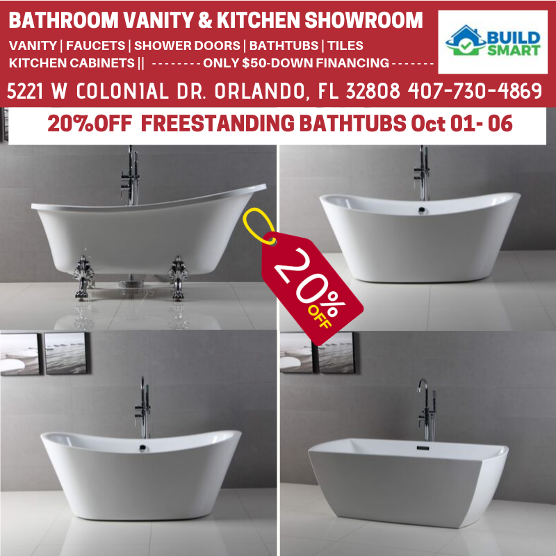 20%OFF FREESTANDING BATHTUBS FROM OCT 01 – 06