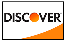 Rod Hobson and Kris Espino happily accept Discover Credit Cards