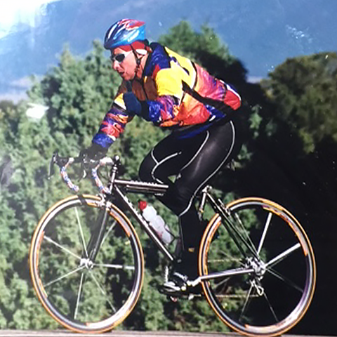 Rod Riding His Bicycle