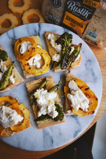 Roasted Vegetable Burrata Toast