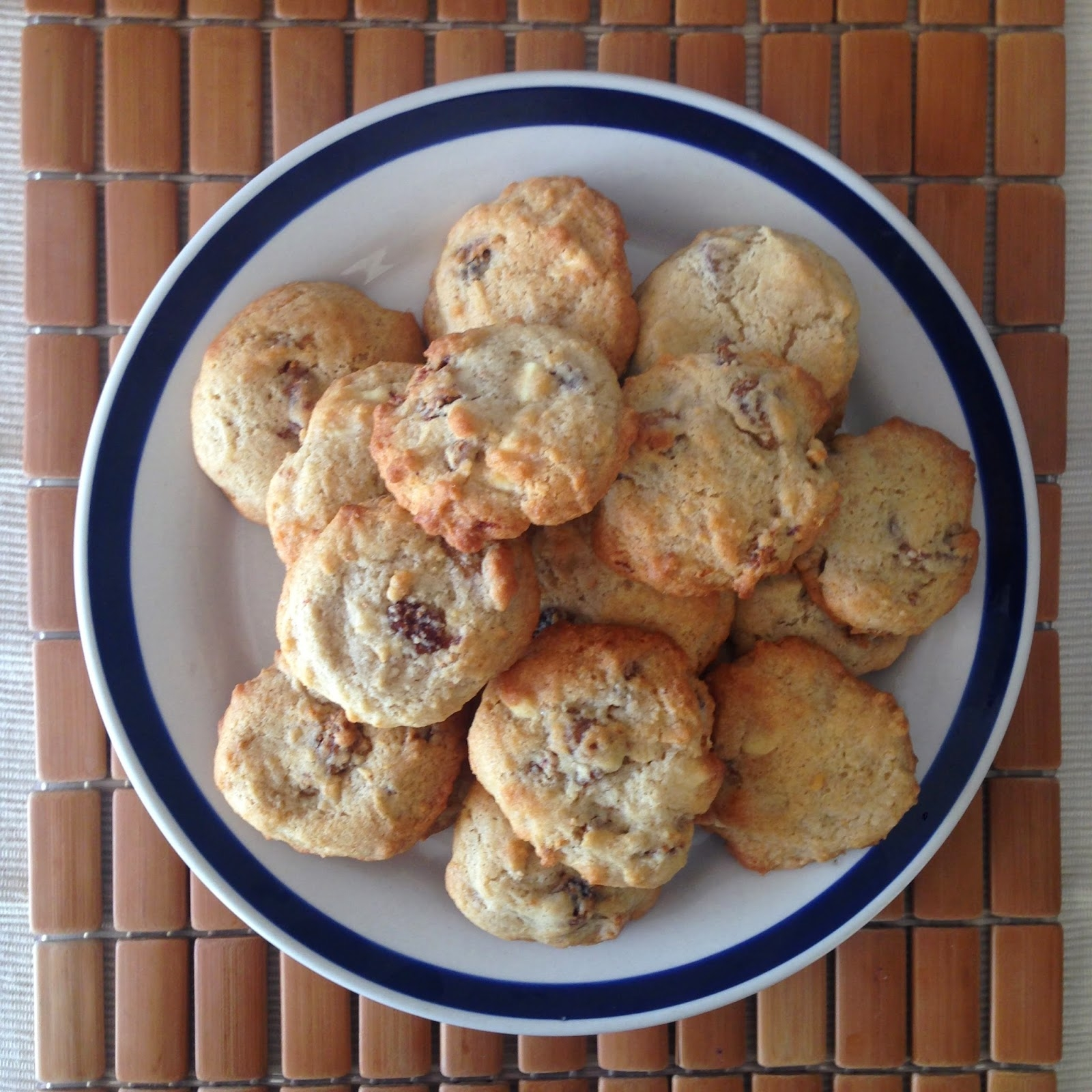 Spiced Fig and White Chocolate Cookies