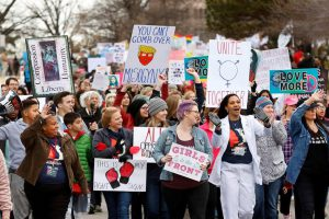 Well over 1,000 people gathered in downtown Tulsa and about 3,000 marchers were expected at the Women's March on Oklahoma City. Over three times that number came to the State Capitol Saturday morning, Jan. 21, 2017, in solidarity with women's marches in Washington D.C. and around the world. (Facebook)