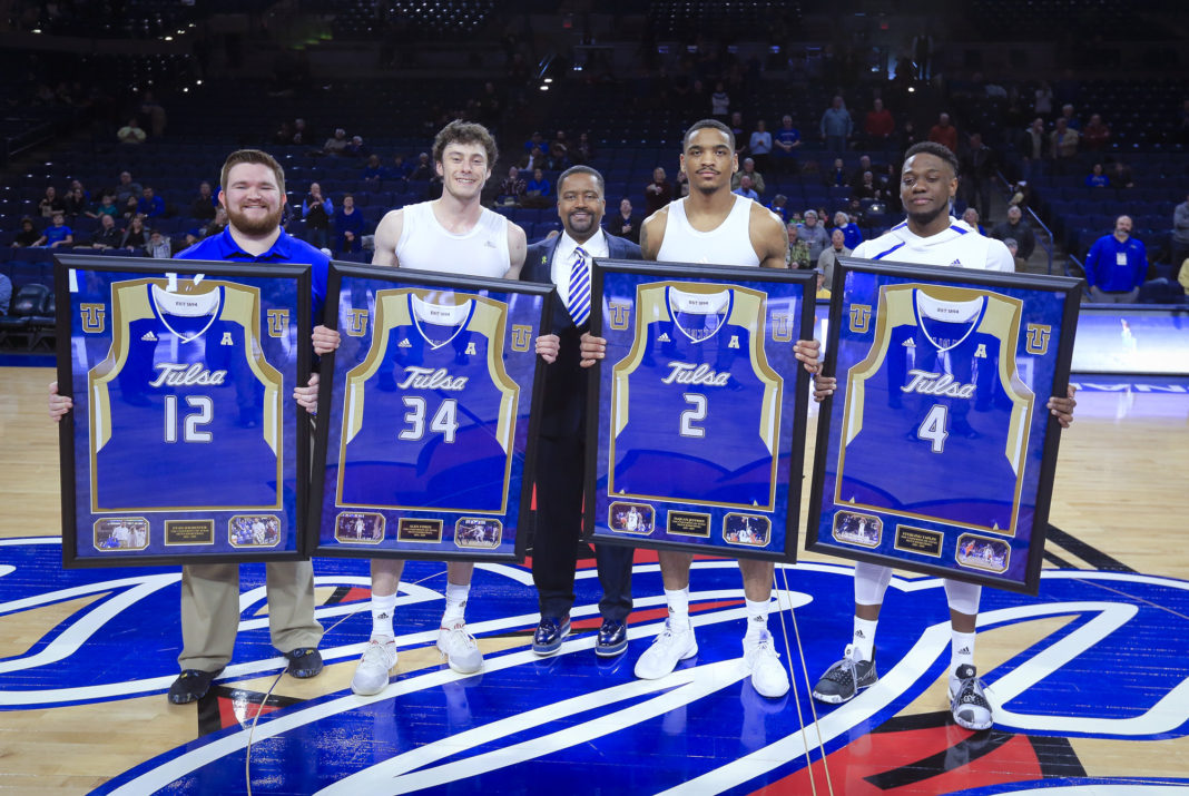 new style 23039 9408c Tulsa Golden Hurricane Celebrates Senior Men's Basketball ...