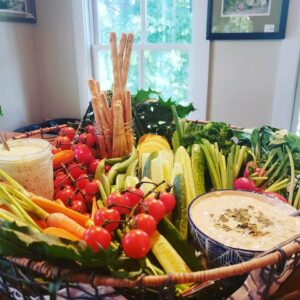 crudite, hors d'oeuvres, party, retirement, wedding