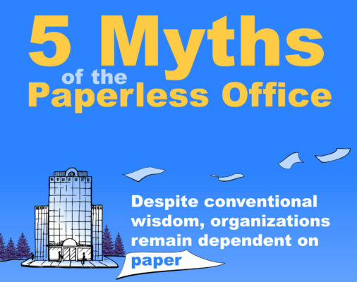 info graphic about paperless office