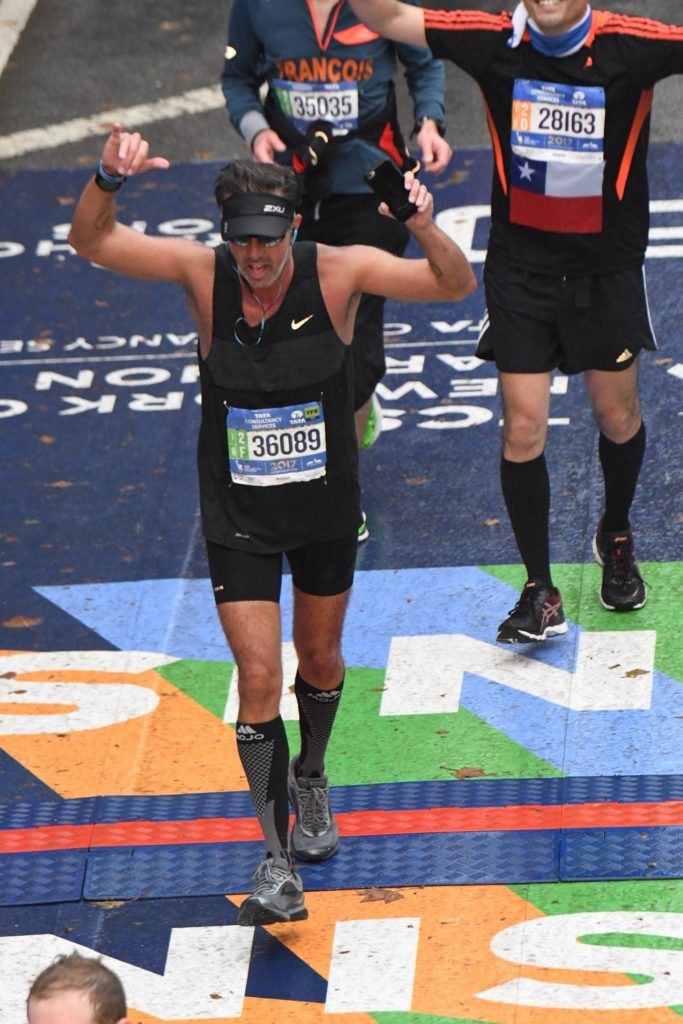 Perry Sasnett NYC Marathon Finish Line