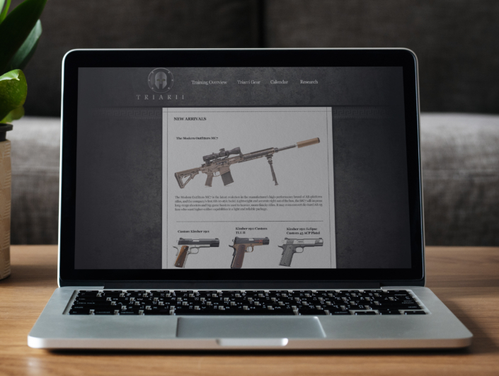 Weapon Systems eCommerce Website