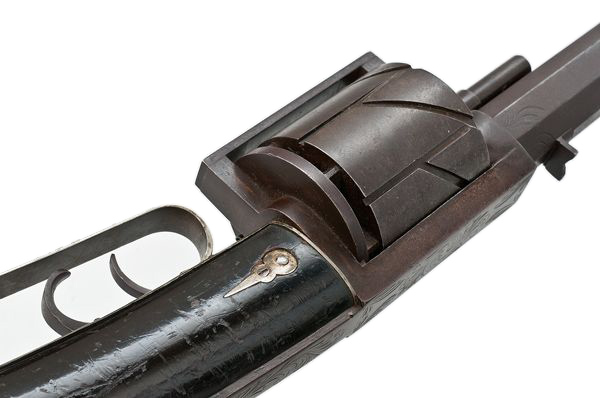 Whittier Revolving Rifle Close-up