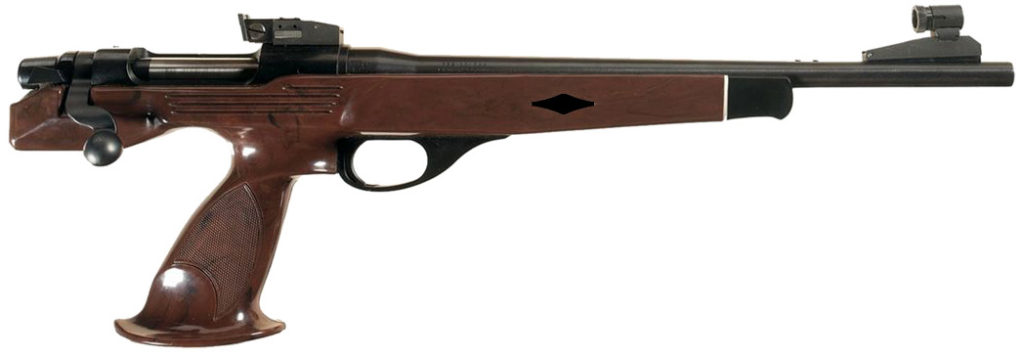 "Locke & Valentine Bolt-Action Pistol No. 2, ""Black Hesselius."""