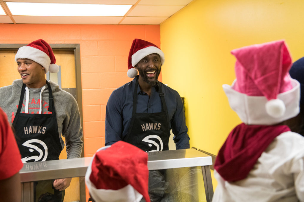 Hawks Head Coach Lloyd Pierce Spread Holiday Cheer