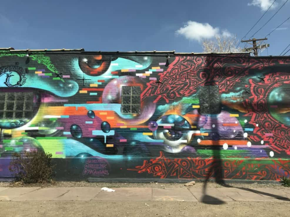 Colorful abstract mural