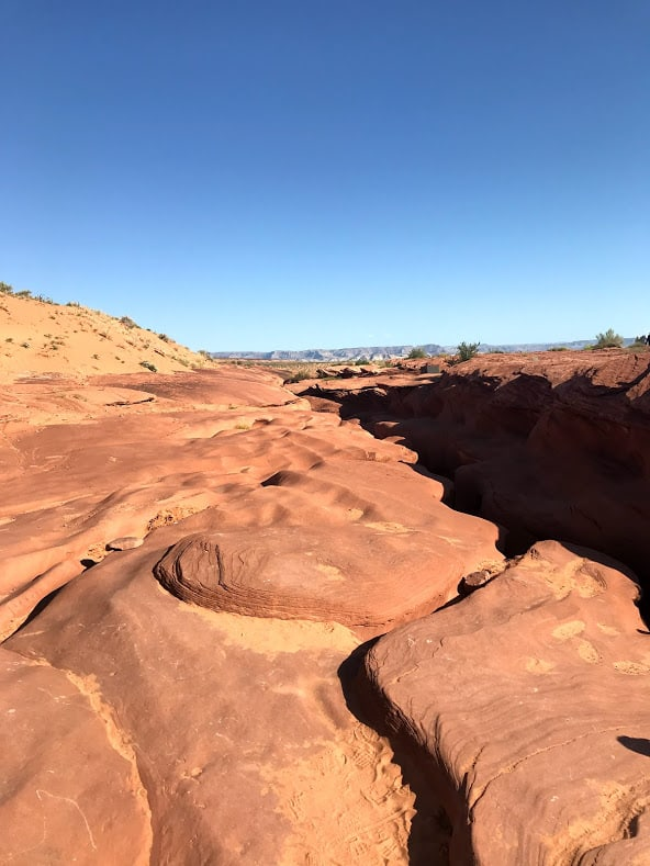 the top of Antelope Canyon