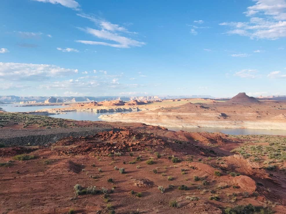 View across many inlets of Lake Powell