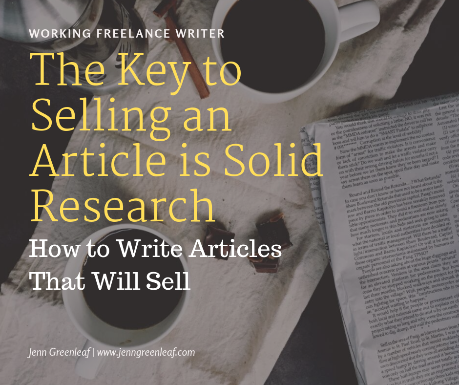 The Key to Selling an Article is Solid Research