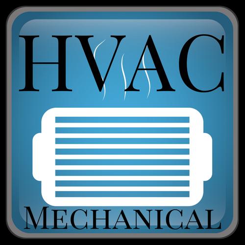 Commercial HVAC icon saying HVAC MECHANICAL