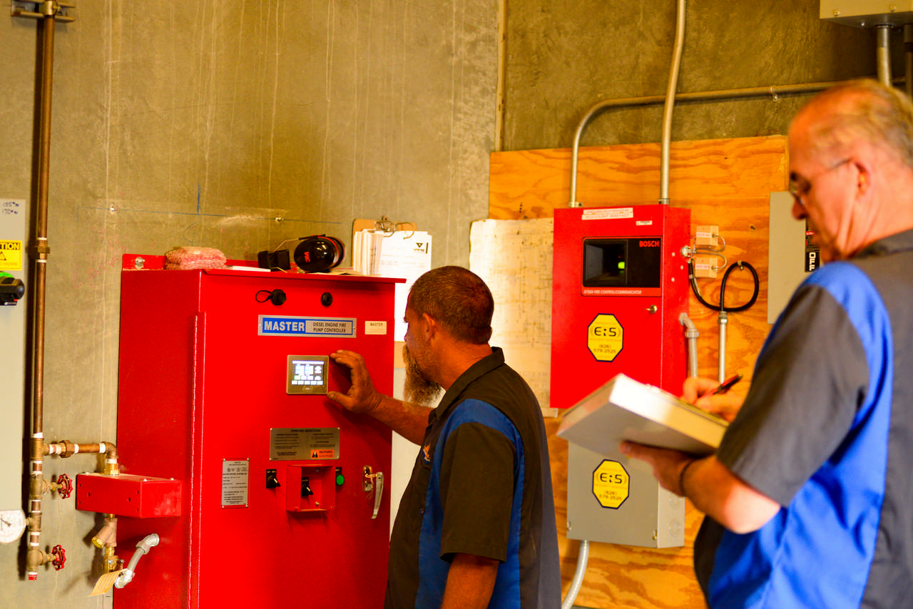 fire pump system control panel inspection