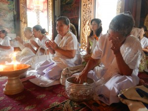 An afternoon service in Wat Mahathat, Luang Prabang, Laos.