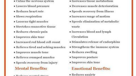 benefits of regular massage