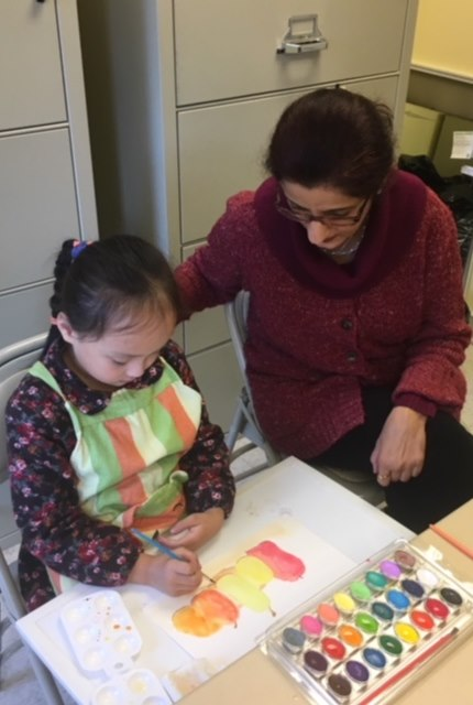Childrens art classes with artist
