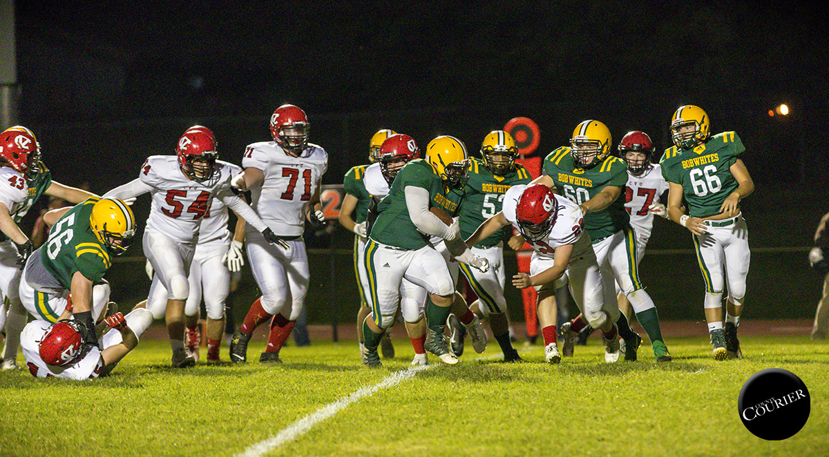 Owen Bonnette makes a touchdown run Friday. Benjamin Leffler, County Courier