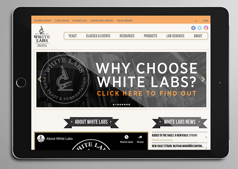 White Labs Web Banners