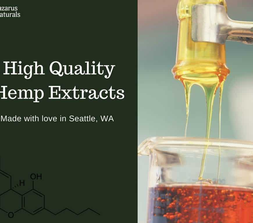 CBD hemp extracts are the highest quality from Lazarus Naturals