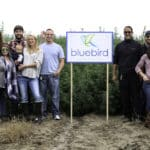 Bluebird team outside their CBD hemp farm