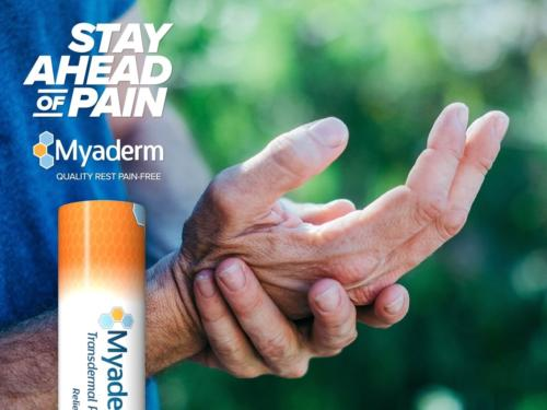 Pain management with CBD from myaderm, transdermal creams to help with pain