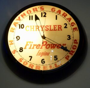 Chrysler FirePower Engine Clock