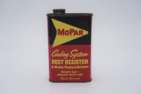 Antique Mopar Cooling System Rust Resistor & Water Pump Lubricant, one pint can.