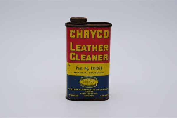 Antique Chryco Leather Cleaner can, 8 oz.