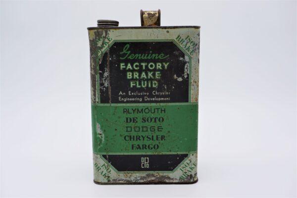 Antique Chrysler Factory Brake Fluid, 1 gallon can.