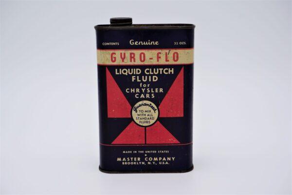 Antique Gyro-Flo Liquid Clutch Fluid, 32 oz can.