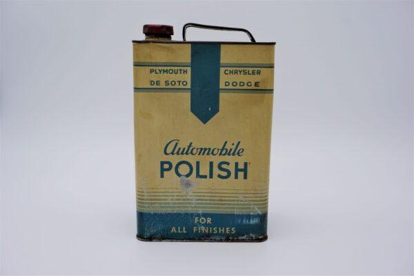 Antique Mopar Automobile Polish can, 128 oz.