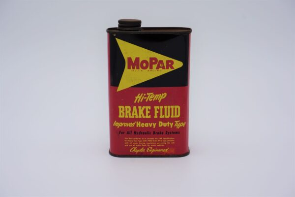 Antique Mopar HIgh Temp Brake Fluid, 1 pint can.